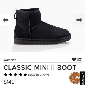 Mini Black Uggs - Wore few times. Great Condition!
